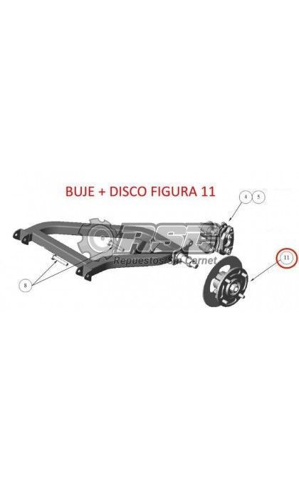 BUJE Y DISCO TRASERO LIGIER NOVA XTOO 1401021