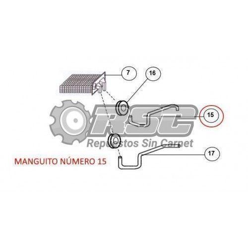 MANGUITO CALEFACCIÓN JDM YANMAR 110002